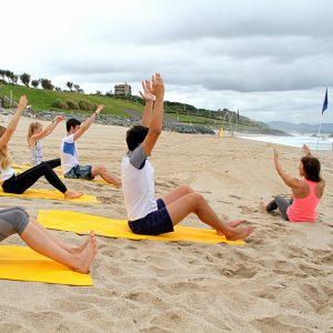 cours pilates plage